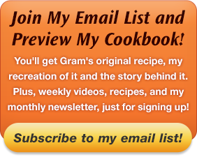 Join My Email List and Preview My Cookbook!