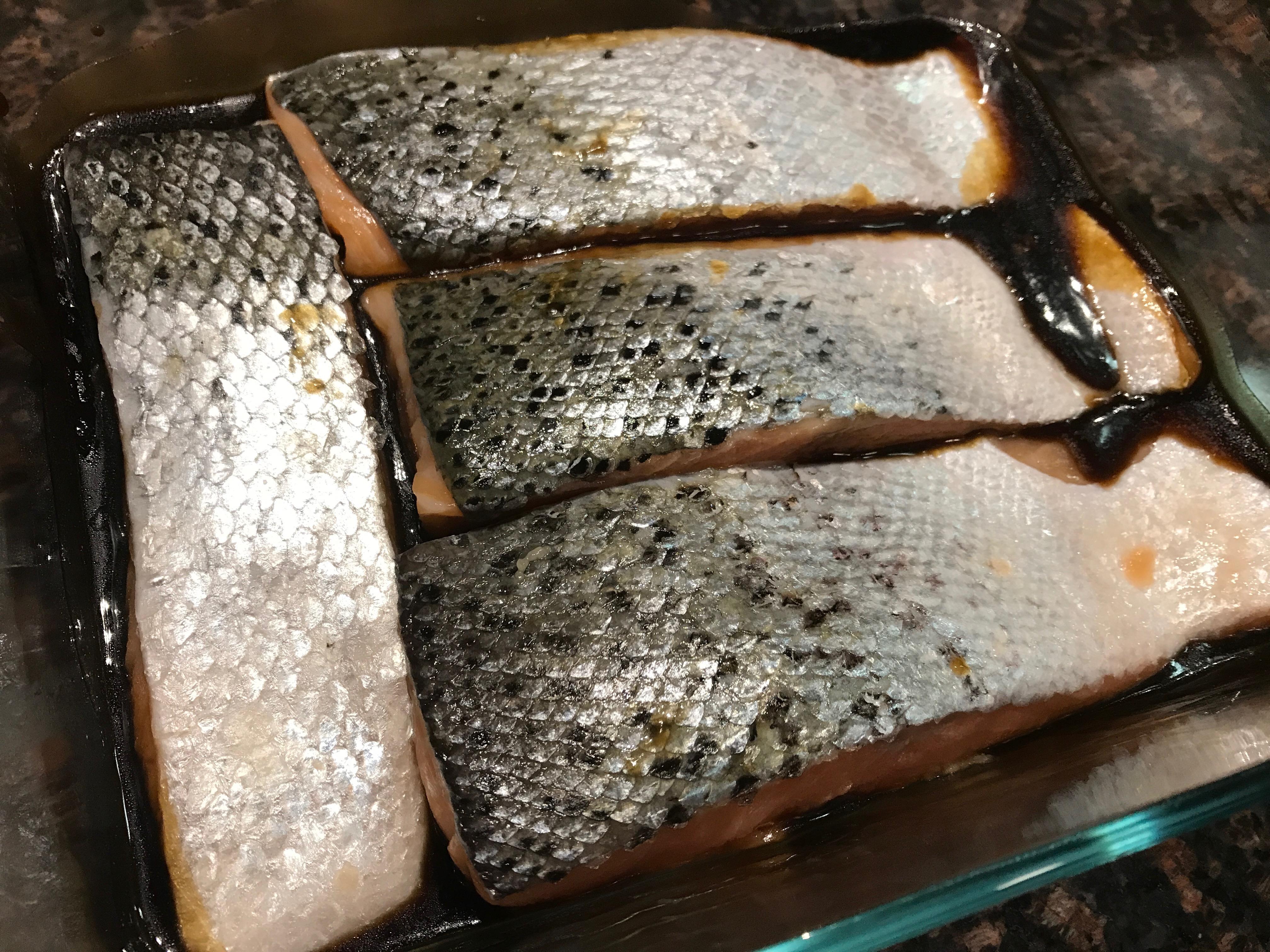 Grilled Basil Lemon Salmon